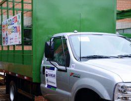 Prefeitura e Sanear apresentam 9 veículos adquiridos para a coleta seletiva e serviços operacionais