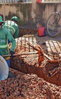Obras da rede de esgoto avançam no Jardim Atlântico e Jardim Europa