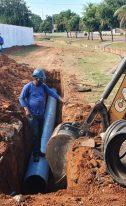 OBRAS DE SANEAMENTO – Sanear realiza mais uma etapa da adutora ETA/Verde Teto