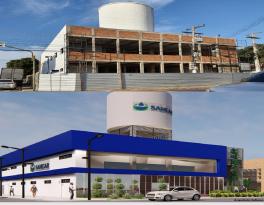 Diretoria do Sanear visita obra de reestruturação e ampliação da Agência Comercial do Centro